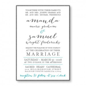Posh 2-Layer Wedding Invitations SAMPLE