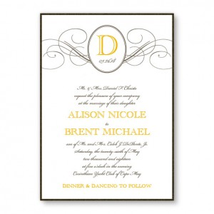 Elegance 2-Layer Wedding Invitations SAMPLE