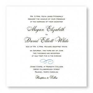 Classic Square Wedding Invitations