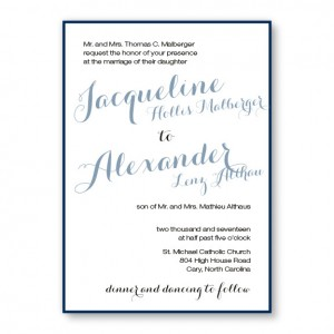 Darling 2-Layer Wedding Invitations SAMPLE