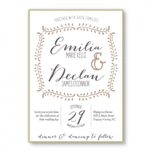 Vine 2-Layer Wedding Invitations SAMPLE