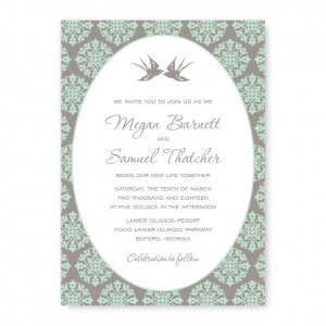 Two Birds Wedding Invitations