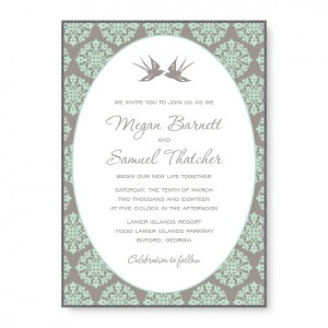 Two Birds 2-Layer Square Wedding Invitations