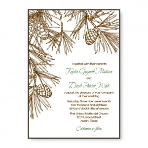 Pine 2-Layer Wedding Invitations
