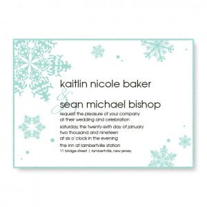 Falling Snow 2-Layer Wedding Invitations