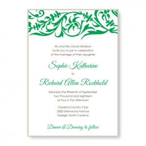 Damask 2-Layer Wedding Invitations