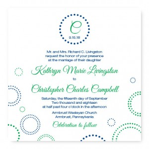 Circles and Dots Wedding Invitations