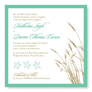 Classic Coastal Wedding Invitations