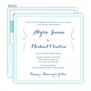 Embrace Square Clutch Wedding Invitations