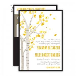 Birch Clutch Wedding Invitations