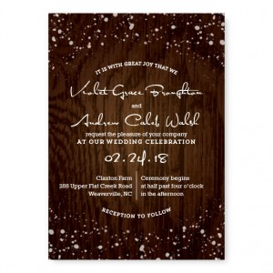 Cozy Cabin Wedding Invitations SAMPLE