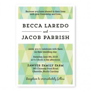 Prism Wedding Invitations