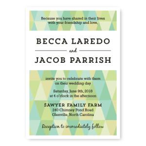 Prism Wedding Invitations