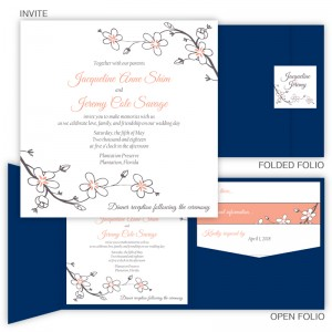 Cherry Blossoms Pocket Invitation