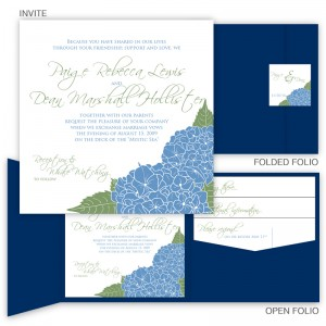 Hydrangea Pocket Wedding Invitations