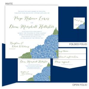 Hydrangea Pocket Wedding Invitations