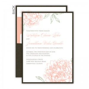 Peony Clutch Wedding Invitations SAMPLE