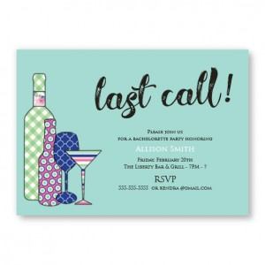Pretty Patterns Bachelorette Invitations