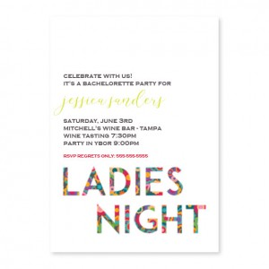 Ladies Night Bachelorette Invitations