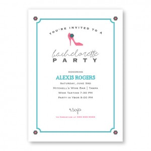 High Heel Bachelorette Invitations