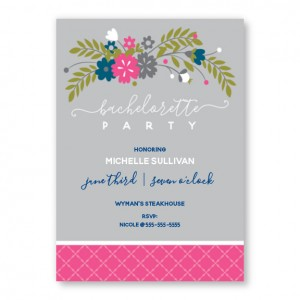 Floral Swag Bachelorette Invitations