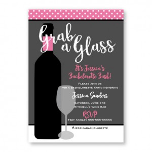 Cute Wine Party Bachelorette Invitations