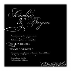 Bella Square Foil Wedding Invitations SAMPLE