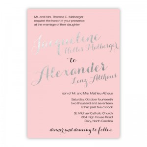 Darling Foil Wedding Invitations