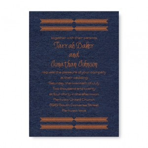 Arrow Head Wedding Invitations