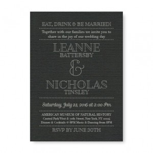 Retro Foil Wedding Invitations