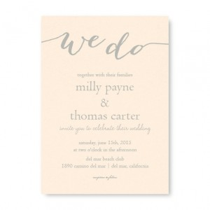 We Do Foil Wedding Invitations