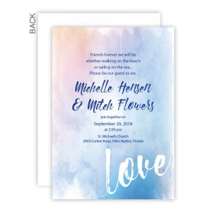Watercolor Love Wedding Invitations