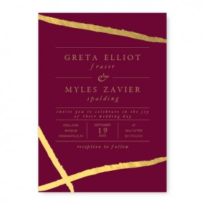 Adorning Ink Foil Wedding Invitations