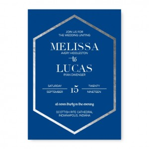 Elated Symmetry Foil Wedding Invitations