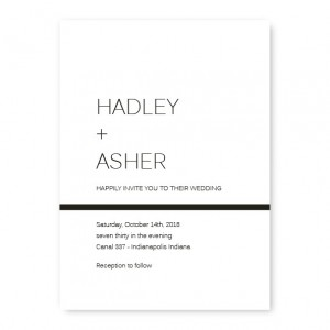 Graceful Stripe Wedding Invitations