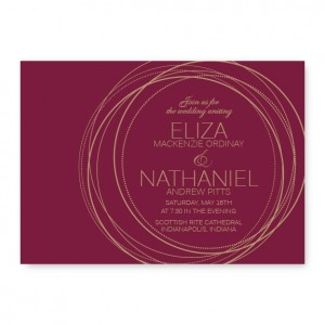 Dancing Circles Wedding Invitations SAMPLE