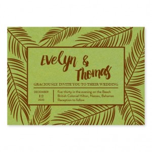 Coveted Pine Wedding Invitations