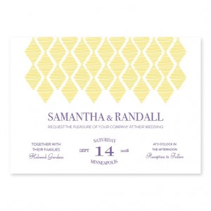 Diamond Chandelier Wedding Invitations