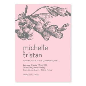 Soft Floral Wedding Invitations