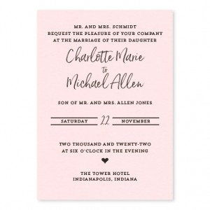 The Heart of the Matter Wedding Invitations