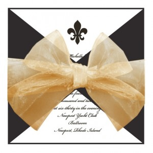 Fleur de Lis Vintage Wedding Invitations