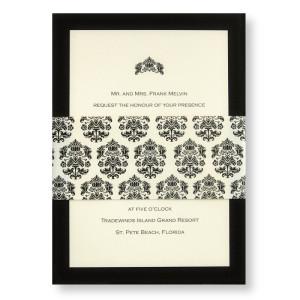Ecru Parisian Wedding Invitations