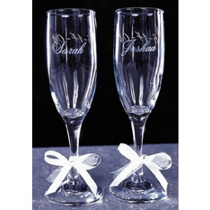 Engraved Wedding Wine Glasses