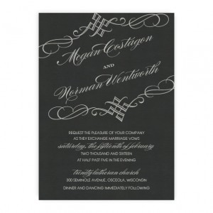 Bailey Thermography Wedding Invitations