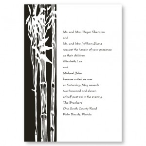 Bamboo Branch Wedding Invitations