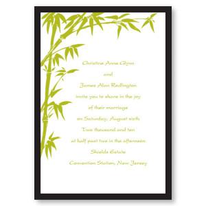 Bamboo Breeze Kiwi Wedding Invitations