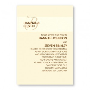 Band of Love Initial Wedding Invitations