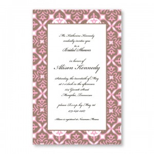 Baroque Pink Invitations