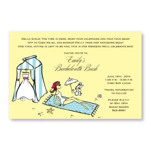 Beach Bride Invitations