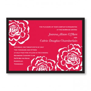 Bella Rose Wedding Invitations